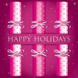 Royalty-Free Stock Vectorafbeeldingen: Happy Holidays spotty cracker card in vector format