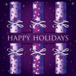 HAppy Holidays star cracker card in vector format — Vettoriali Stock