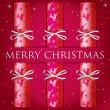 Royalty-Free Stock Obraz wektorowy: Merry Christmas reindeer cracker card in vector format.