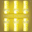 Happy Holidays spotty cracker card in vector format — Imagens vectoriais em stock
