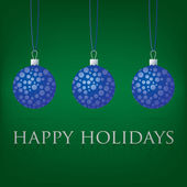 Bright Happy Holidays bauble card in vector format. — Stockvector