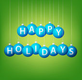 Happy Holidays hanging bauble card in vector format — Cтоковый вектор