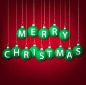 安物の宝石カード ベクトル形式でぶら下がっているメリー クリスマス. — ストックベクタ