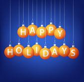 Feliz navidad tarjeta chuchería en formato vectorial colgante — Vector de stock