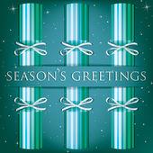 Season's Greetings stripe cracker kort i vektorformat — Stockvektor