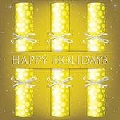 Happy Holidays spotty cracker card in vector format — Stock Vector