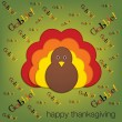 Yelling turkey Thanksgiving card in vector format — Stock Vector
