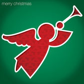 "Angel ""Merry Christmas"" cut out card in vector format — Vettoriale Stock"
