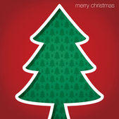 "Christmas Tree ""Merry Christmas"" cut out card in vector format — Vector de stock"