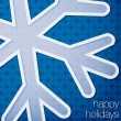 "Cut out ""Happy Holidays"" snowflake card in vector format. — Stock Vector"