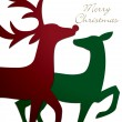 Raindeer cards — Stock Vector