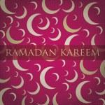 "Silver crescent moon ""Ramadan Kareem"" Generous Ramadan card in vector format — Stock Vector #17667193"