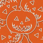Happy Halloween sticker card in vector format — Stock Vector