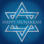 """Happy Hanukkah"" blue star of David card in vector format — Stock Vector"