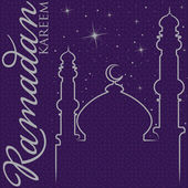 Hand drawn Ramadan Kareem Generous Ramadan greeting card in vector format — 图库矢量图片