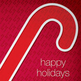 """Cut out """"Happy Holidays"""" candy cane card in vector format — Stock Vector"""