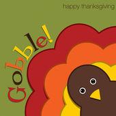 Hiding turkey felt Thanksgiving card in vector format — Stock Vector