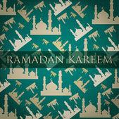 "Silver Mosque ""Ramadan Kareem"" Generous Ramadan scatter card in vector format — Stock Vector"