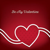 Swirl heart Valentine's Day card in vector format. — Stock Vector