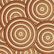 Abstract Aboriginal dot painting in vector format. - Stockvectorbeeld