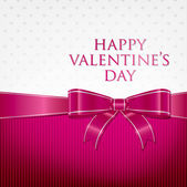 Bow Valentine's Day Card in vector format — Vector de stock