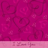 Carta di cuore disegnati a mano in formato vettoriale — Vettoriale Stock