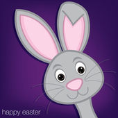 Hiding Easter Bunny card — Stock Vector