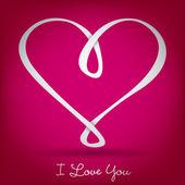 Infinity heart card — Stock Vector