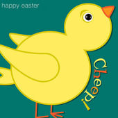 Cheep! Chick Happy Easter Card in vector format. — Stock Vector