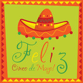 """Feliz Cinco de Mayo"" (Happy 5th of May) card in vector format — Stock Vector"