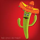 """""""Feliz Cinco de Mayo"""" (Happy 5th of May) card in vector format — Stock Vector"""