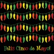 Stock Vector: Cinco de Mayo chili pepper greeting cards in vector format