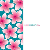 """""""Happy Mother's Day"""" flower card — Stock Vector"""