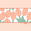 Tulip background in vector format — Stock Vector