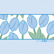 Royalty-Free Stock Vektorfiler: Tulip background in vector format