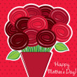 Royalty-Free Stock Vector Image: Rose Happy Mother\'s Day card in vector format.