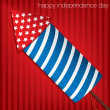 Happy Independence Day card in vector format — Stock Vector #25650499