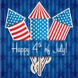 4th of July card in vector format — Imagens vectoriais em stock