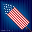 4th of July card in vector format — Stockvectorbeeld