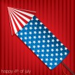 4th of July card in vector format — ベクター素材ストック