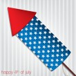 4th of July card in vector format — Imagen vectorial