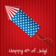 Stock Vector: 4th of July card in vector format