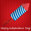 Happy Independence Day card in vector format — 图库矢量图片