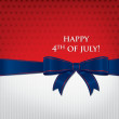 Happy 4th of July card in vector format — Imagen vectorial