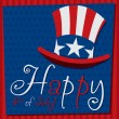 Patriotic Uncle Sam hat 4th of July card in vector format. — Image vectorielle
