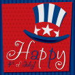 Patriotic Uncle Sam hat 4th of July card in vector format. — ベクター素材ストック