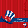 Patriotic Uncle Sam hat 4th of July card in vector format. — Stockvektor
