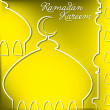 Stock Vector: RamadKareem (Generous Ramadan) card in vector format.