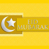 "Bright ""Eid Mubarak"" (Blessed Eid) card in vector format — Stock Vector"