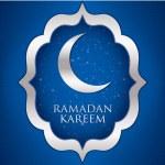 """""""Ramadan Kareem"""" (Generous Ramadan) moon card in vector format. — Stock Vector #27704709"""